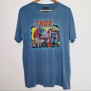 Marvel Comics Vintaged Blue Thor Tee Shirt